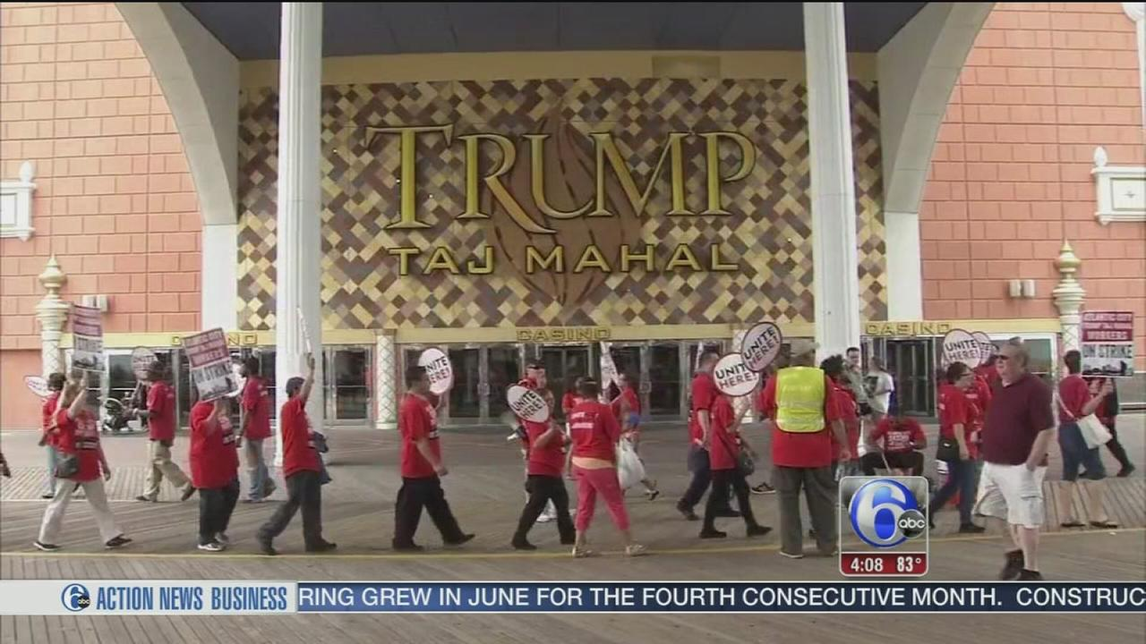 VIDEO: Union goes on strike against Trump Taj Mahal casino