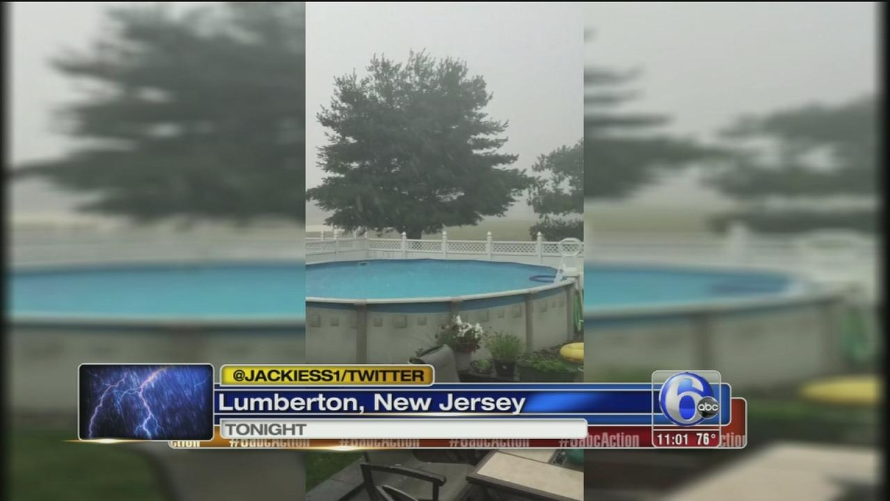VIDEO: Stormy start to holiday weekend