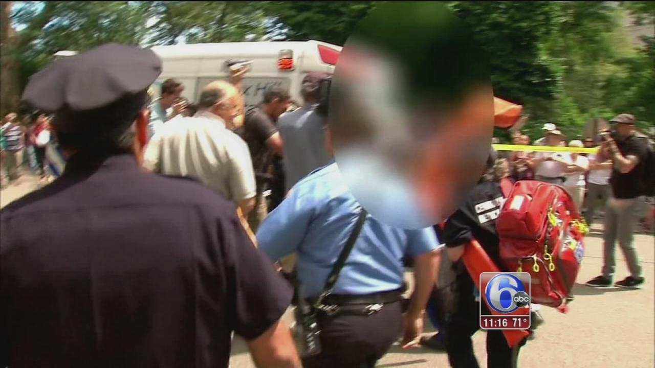 VIDEO: Park explosion