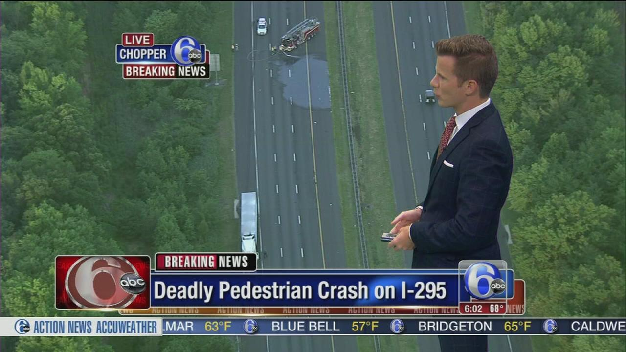VIDEO: Pedestrian killed on I-295