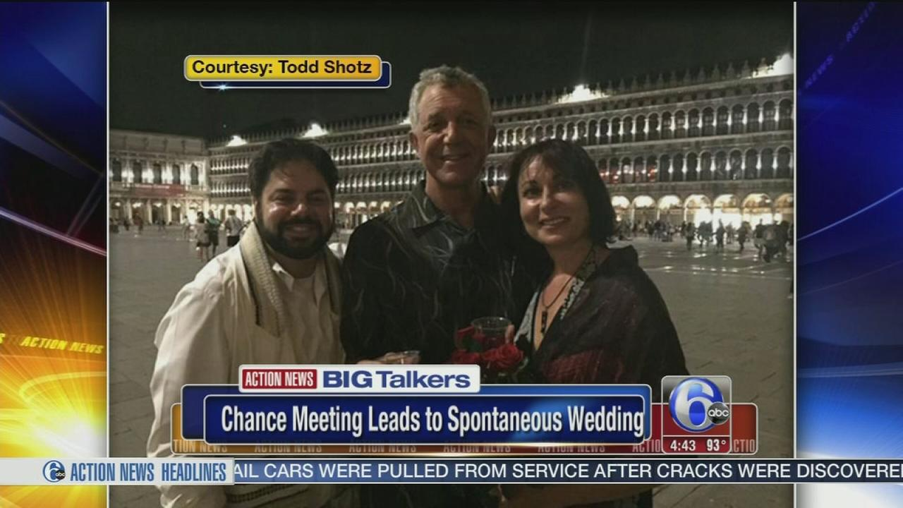 VIDEO: Chance meeting leads to spontaneous wedding