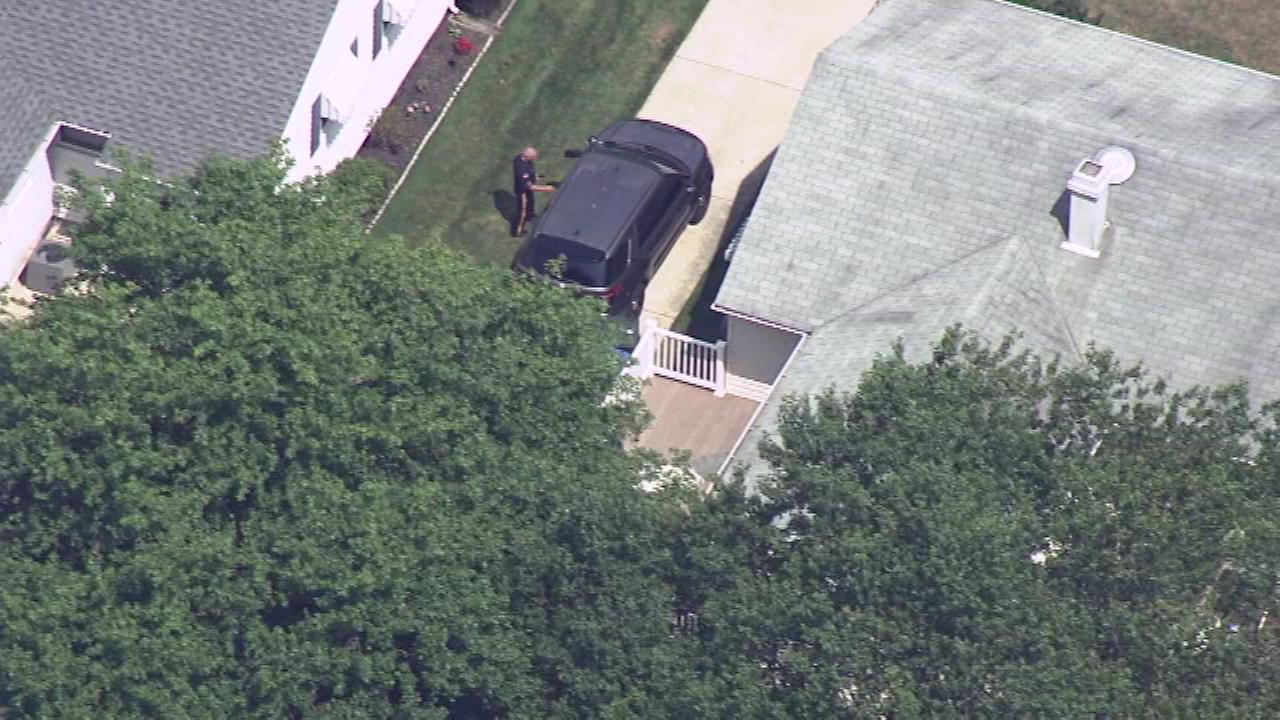 Authorities say the womans body was found Wednesday at her home in the 100 block of Nassau Road in Lumberton, N.J.