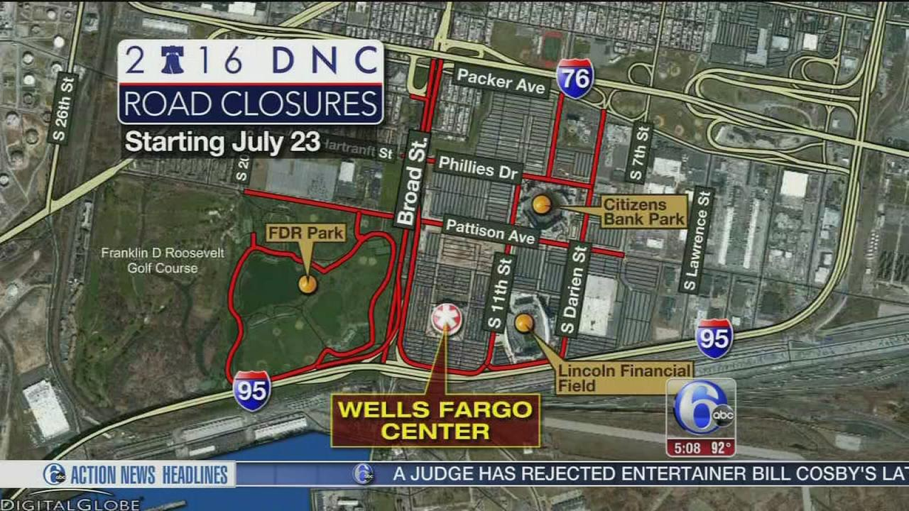 VIDEO: Road closures for DNC