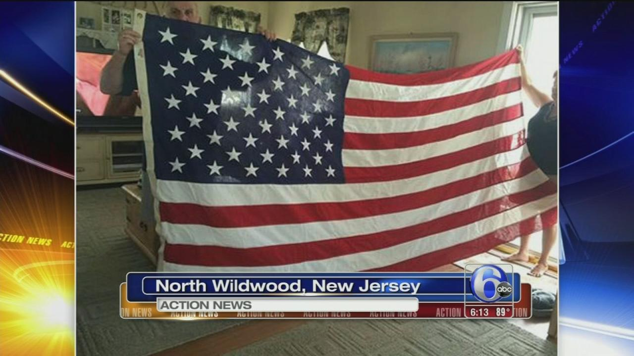 VIDEO: Reward offered for stolen flag