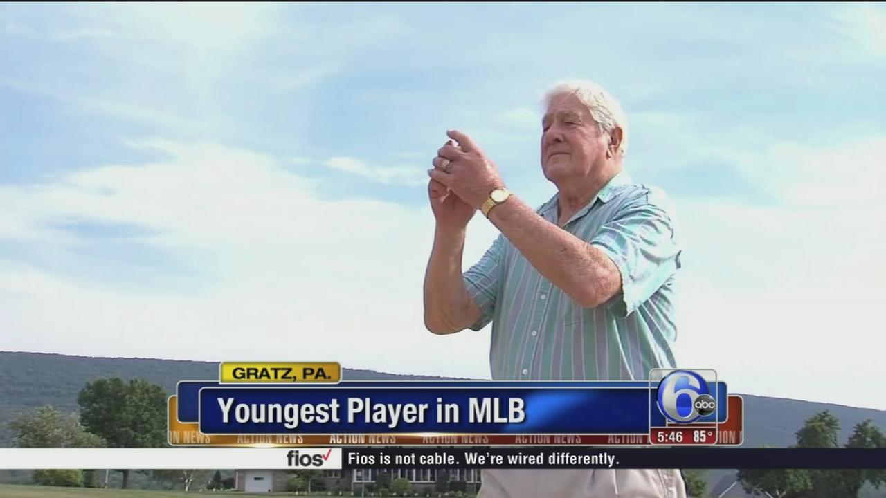 VIDEO: Youngest player in MLB