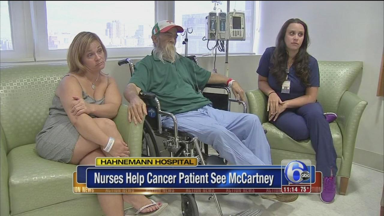 VIDEO: Nurses help cancer patient see McCartney