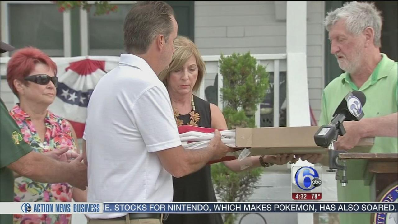 VIDEO: Stolen American flag returned to family