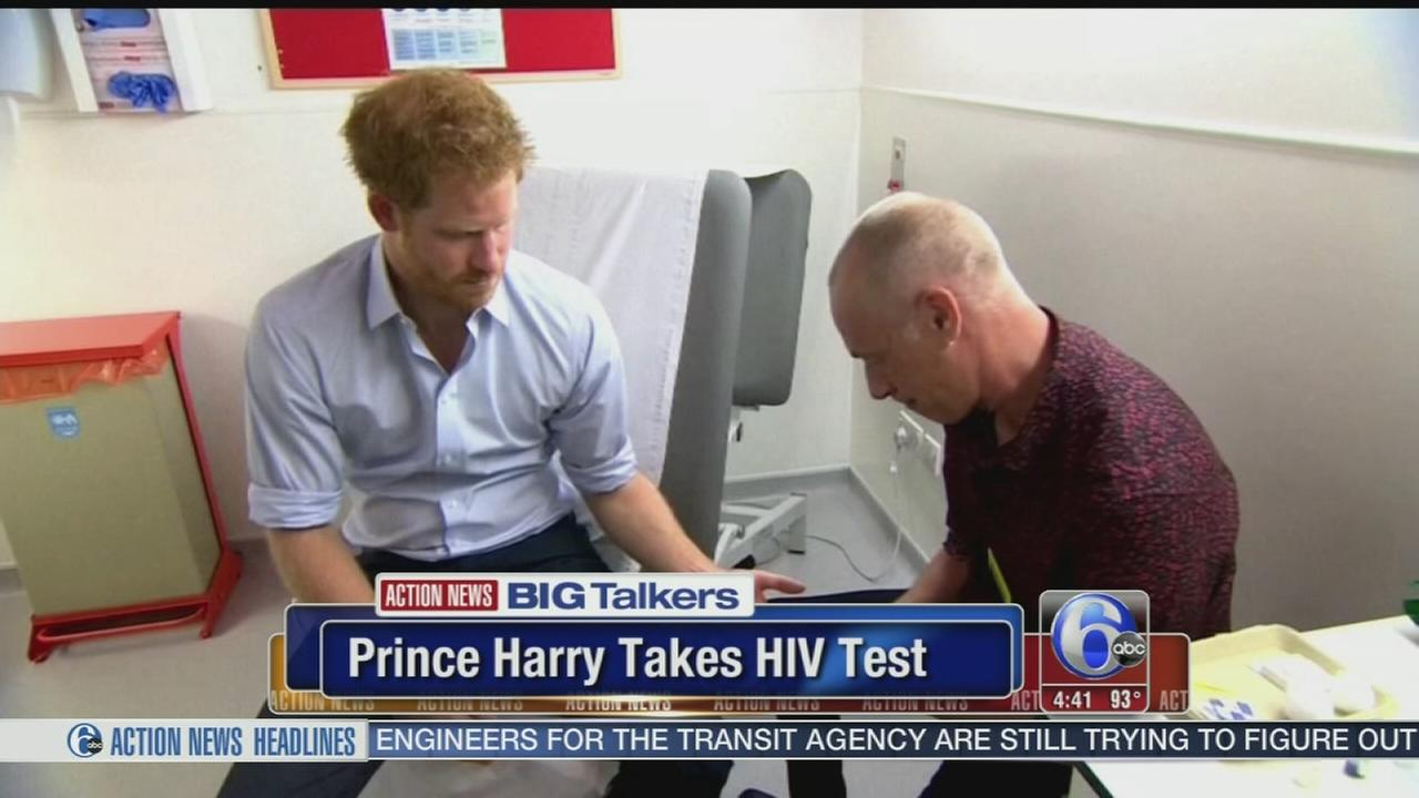 VIDEO: Prince Harry takes HIV test