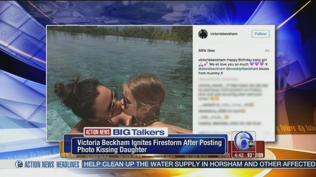 VIDEO: Photo of Victoria Beckham kissing daughter on lips stirs controversy