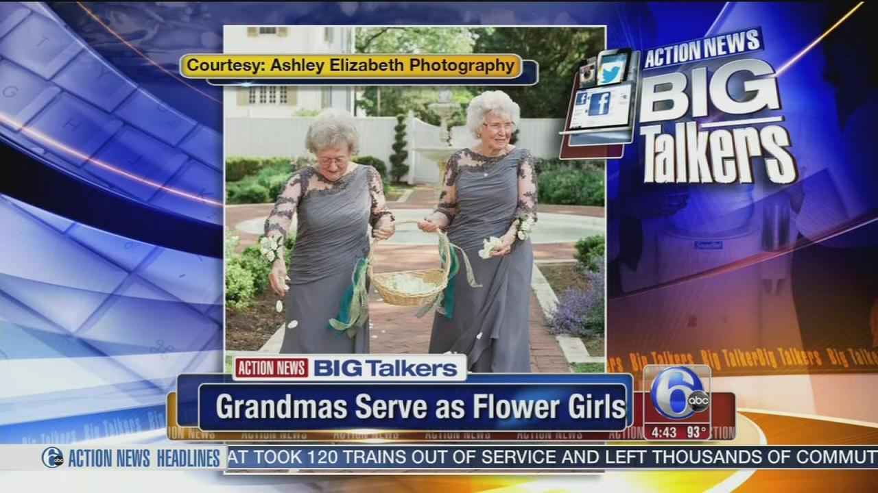 VIDEO: Grandmas serve as flower girls in Lancaster Co. wedding