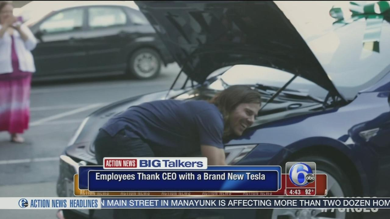 VIDEO: Employees give CEO a new car after he shared the wealth