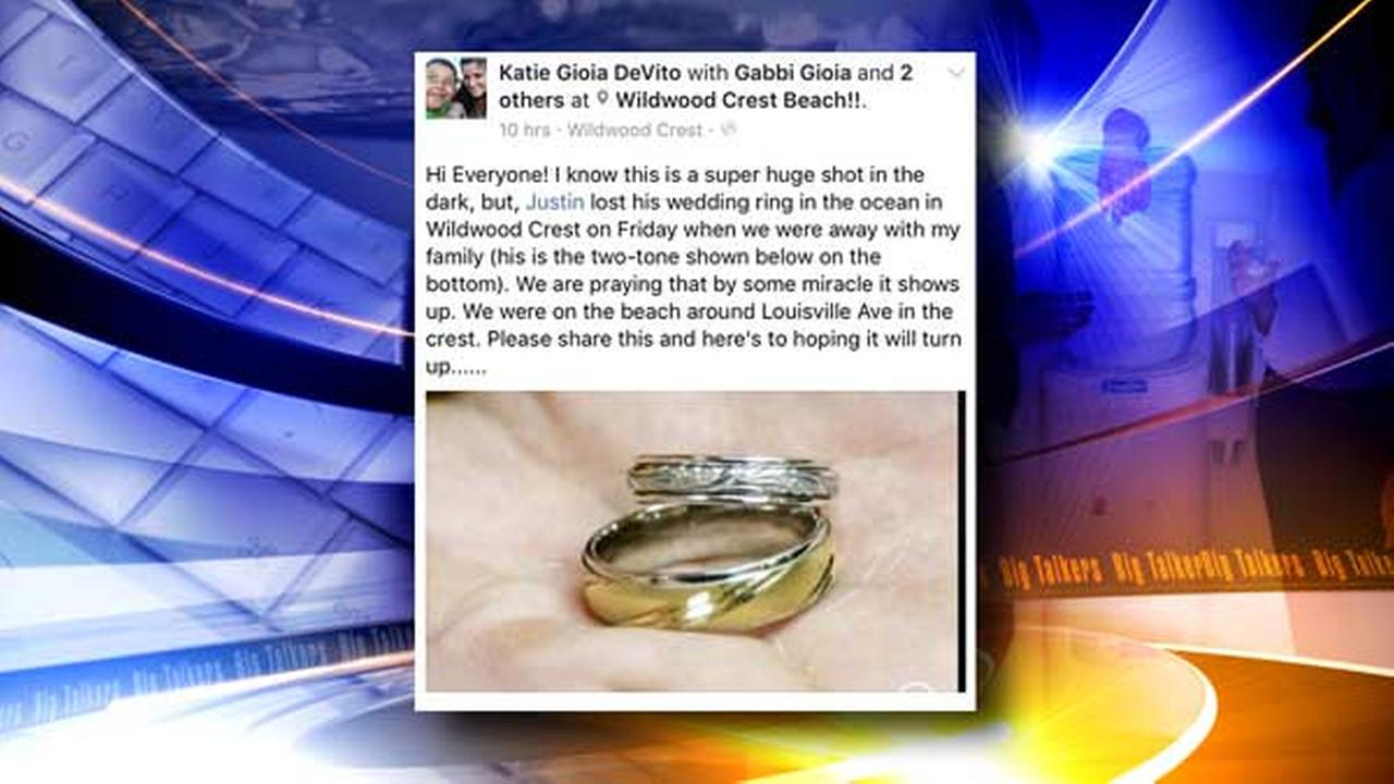 Two families were joined together to reunite a lost wedding ring with its owner thanks to the power of social media.