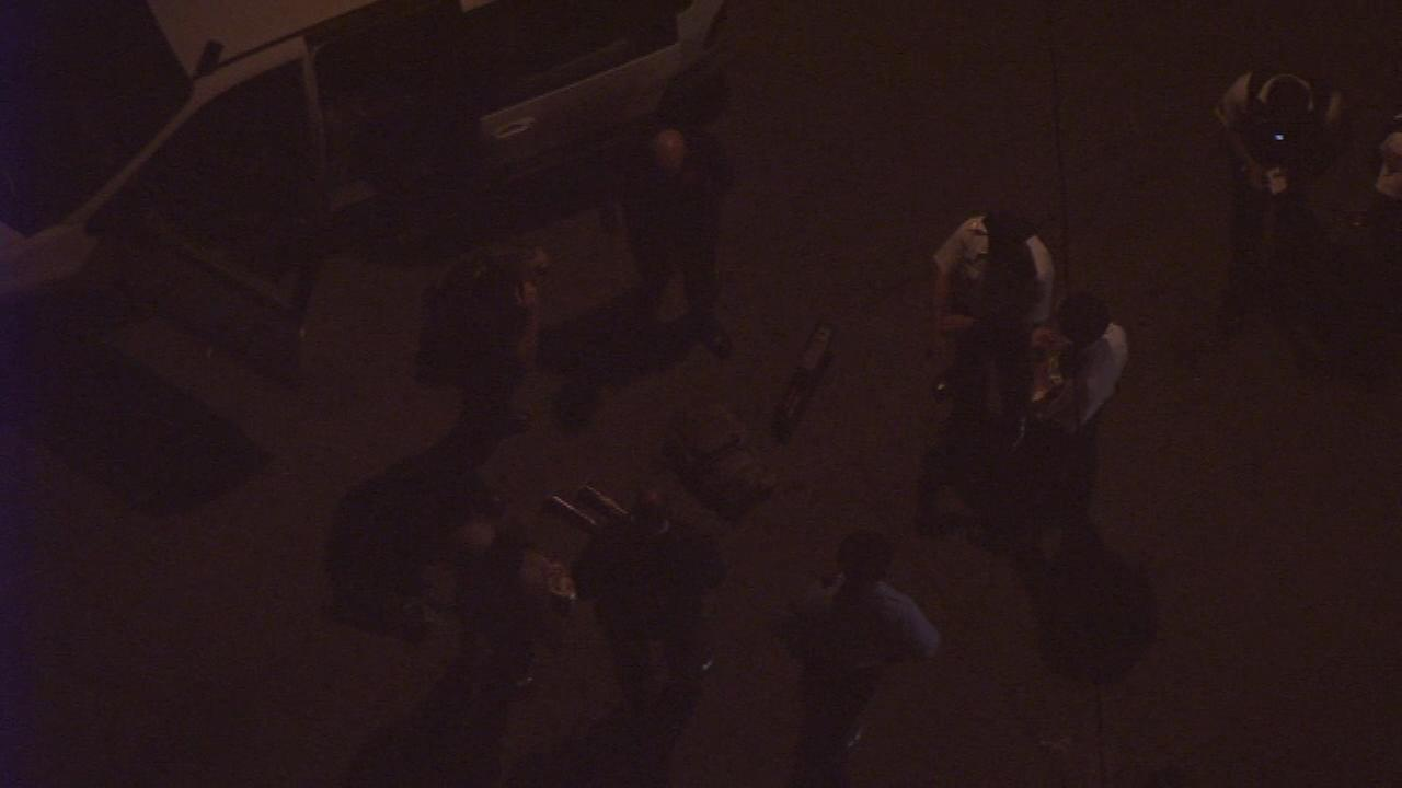April 19, 2016: Chopper 6 HD over 20th and Champlost streets  after officers found homemade explosives and two young children inside a vehicle.