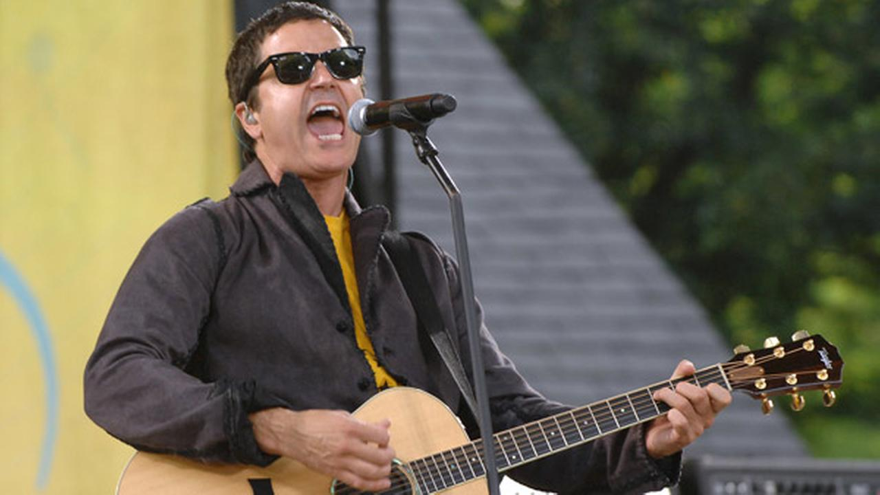 FILE - In this July 17, 2009, file photo, musician Stephan Jenkins of the music group Third Eye Blind performs on ABCs Good Morning America in New York.