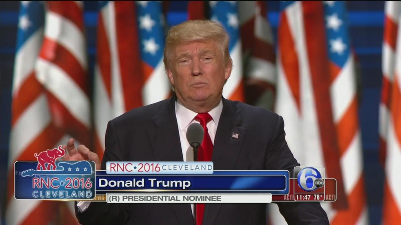 VIDEO: Trump accepts GOP nomination
