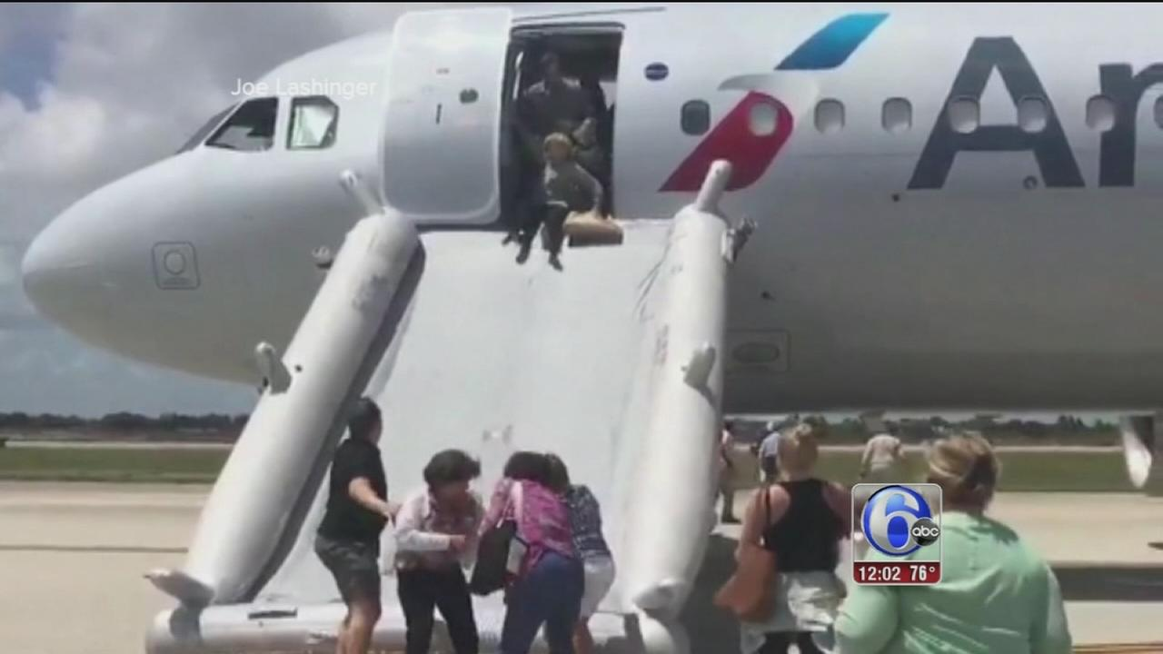 VIDEO: AA flight evac