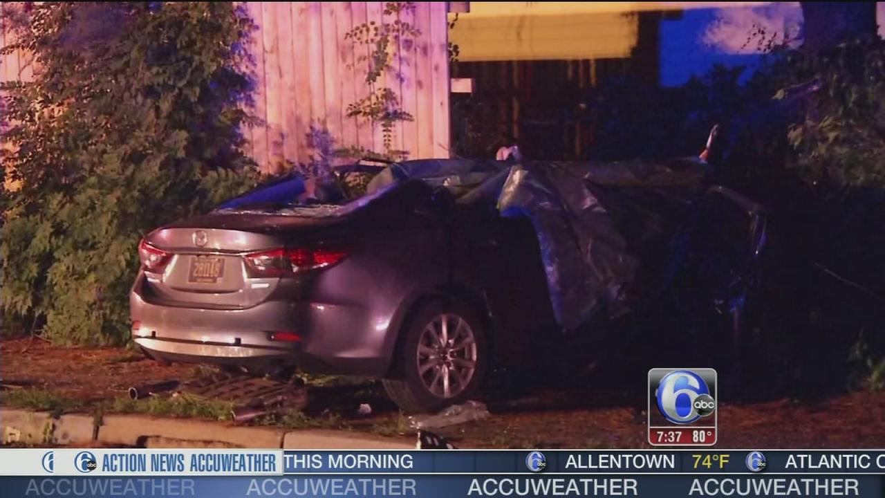 VIDEO: 1 dead, 1 injured after crash in Newark, Del.