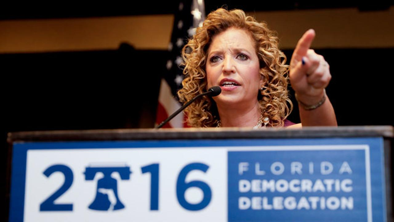 DNC Chairwoman, Debbie Wasserman Schultz, D-Fla., speaks during a Florida delegation breakfast, Monday, July 25, 2016, in Philadelphia, during the first day of the DNC.