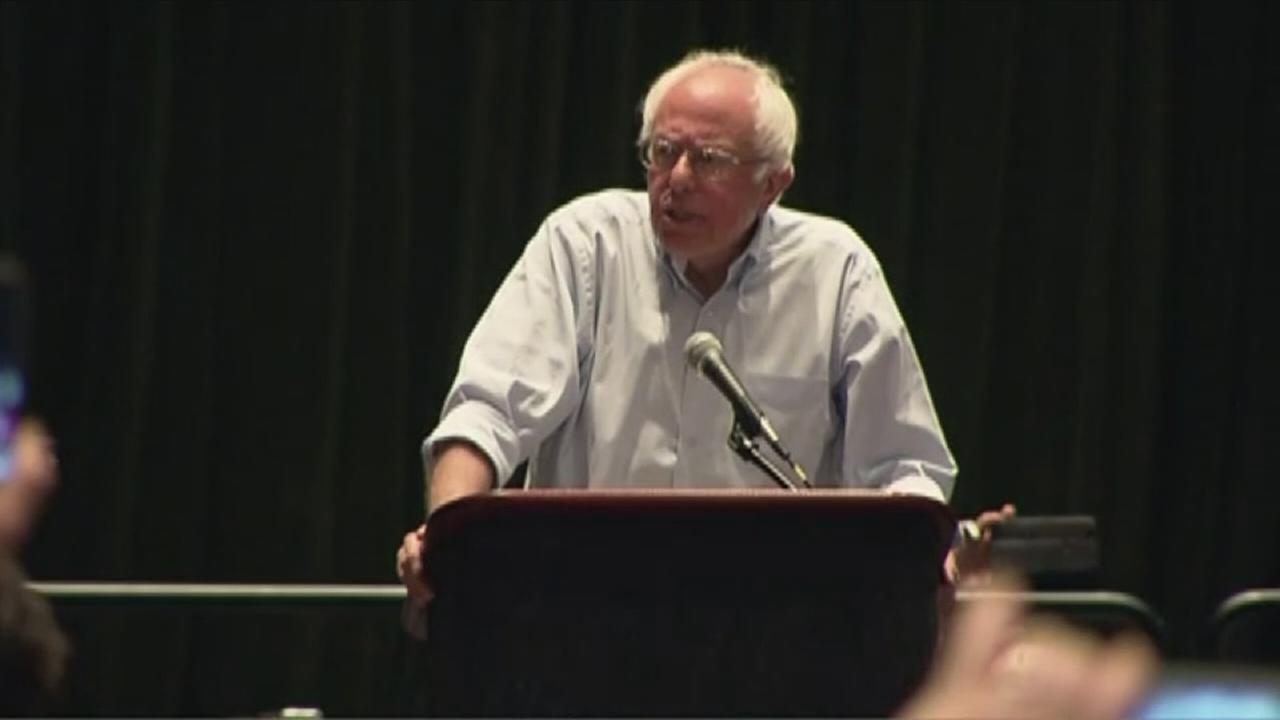 VIDEO: Bernie Sanders addresses supporters in Philadelphia