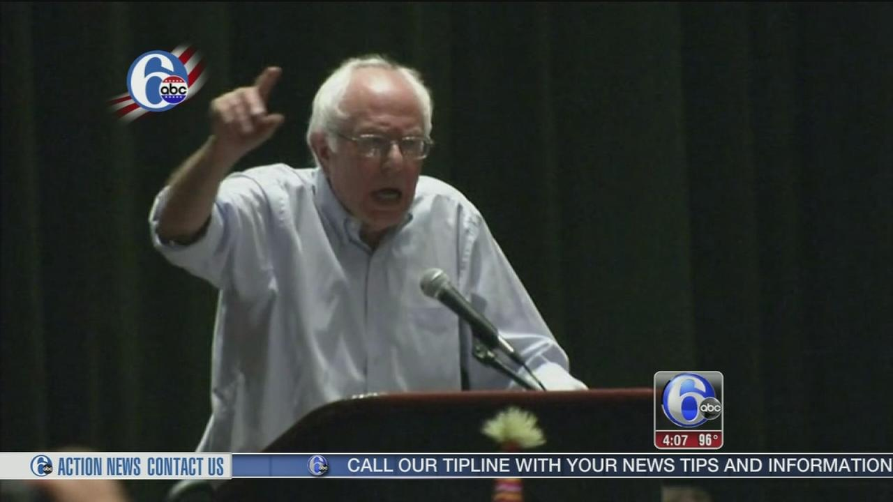 VIDEO: Bernie Sanders addresses supporters to cheers and jeers