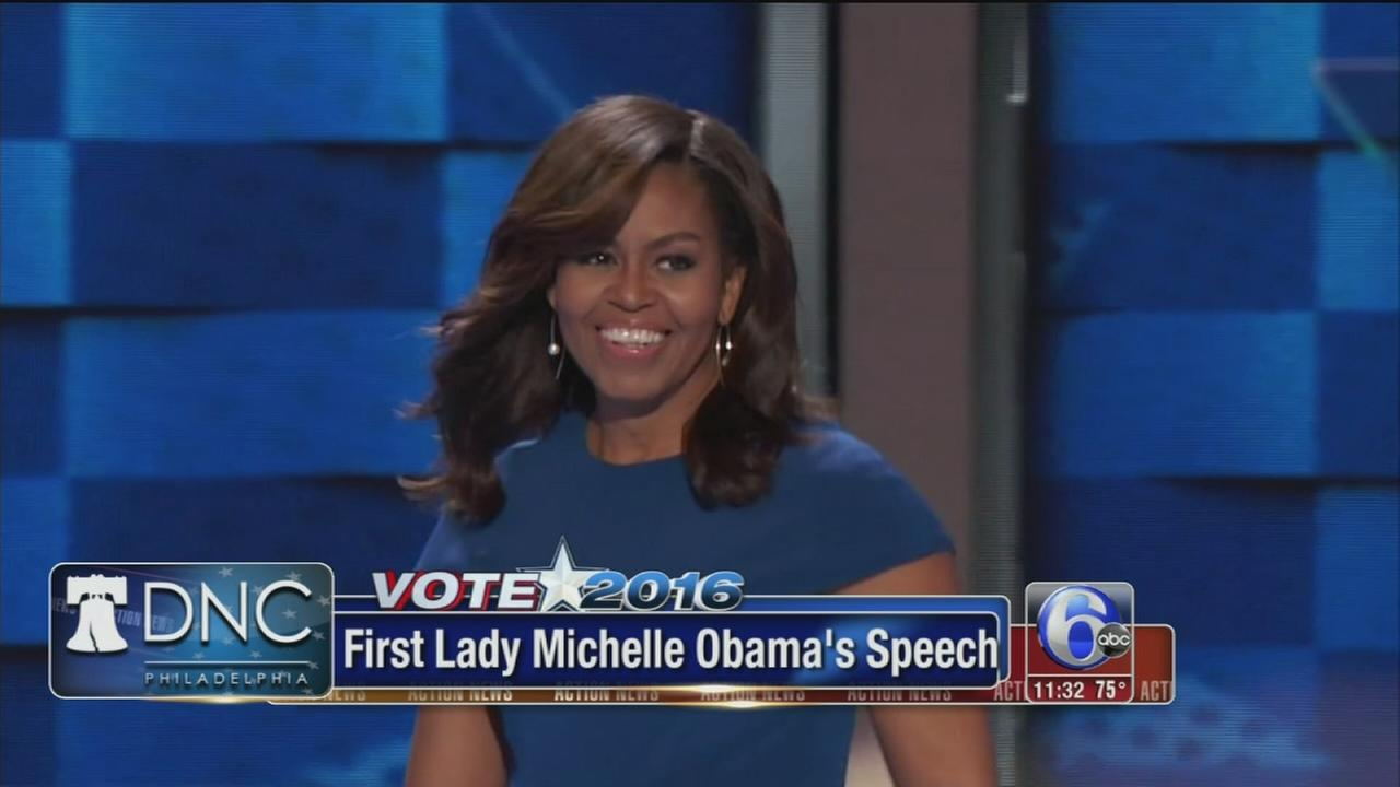 VIDEO: Michelle Obama ignites DNC