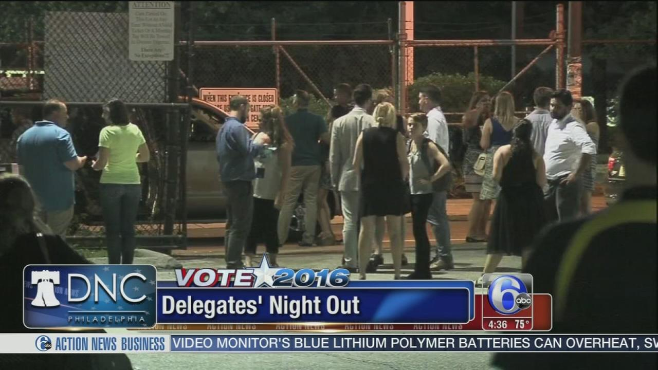 VIDEO: Nightlife in Philly for the delegates