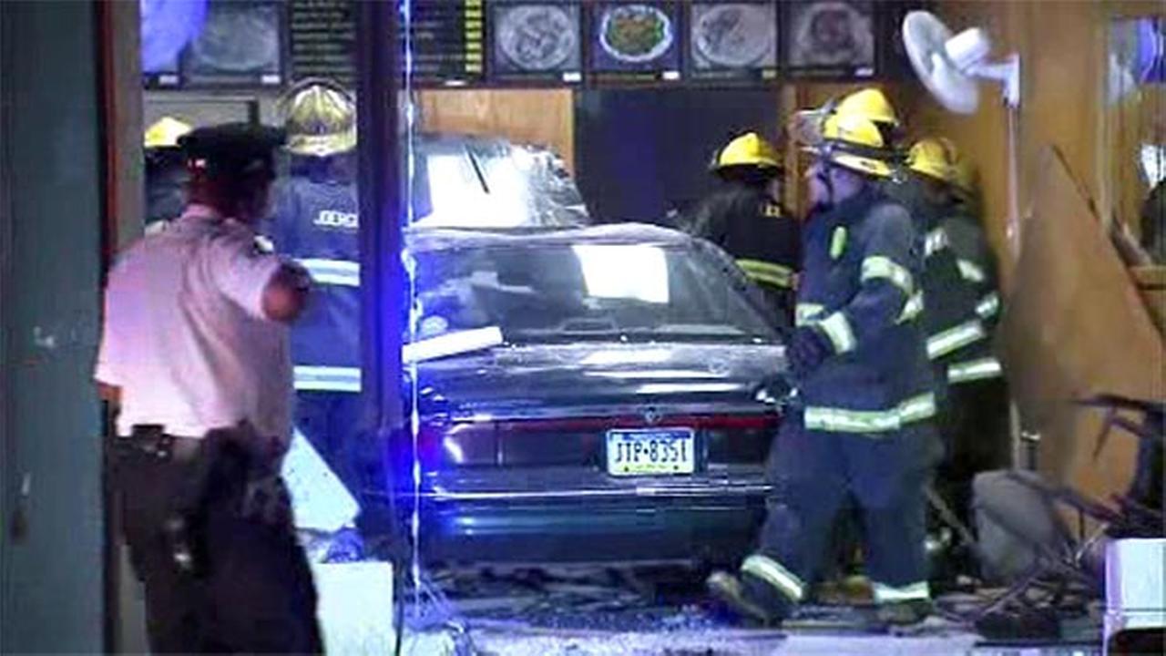 Car hits restaurant in South Philadelphia