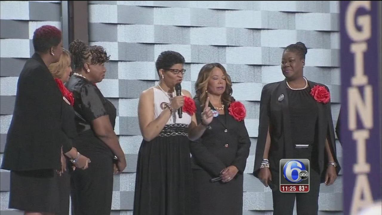 VIDEO: Mothers of the Movement take center stage at DNC