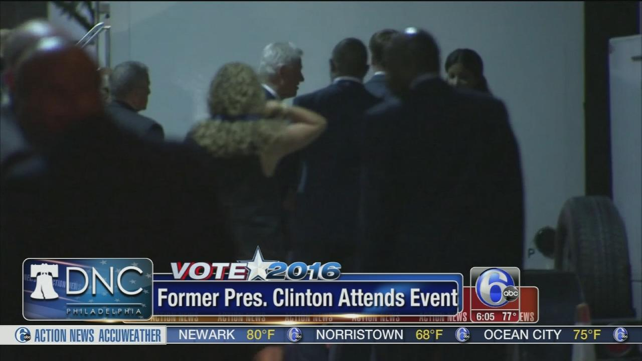 VIDEO: Bill Clinton hosts the hottest ticket in Philly