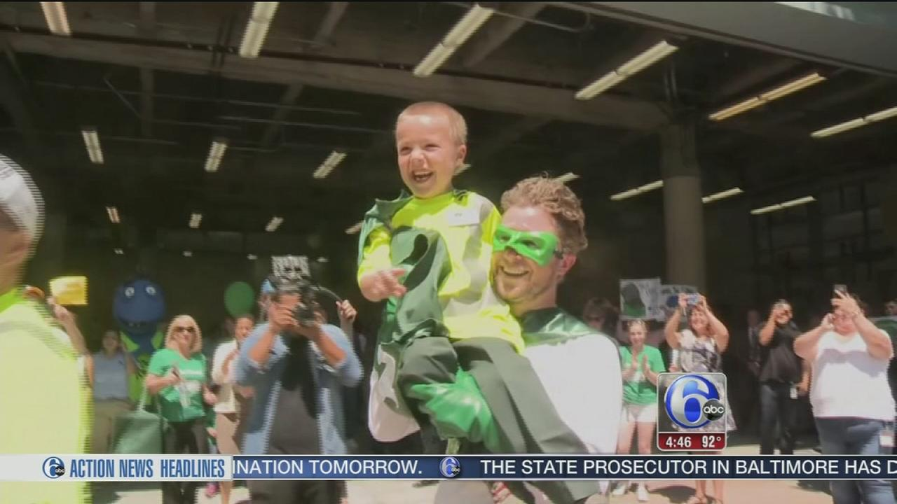VIDEO: Boy gets to be garbage man for a day