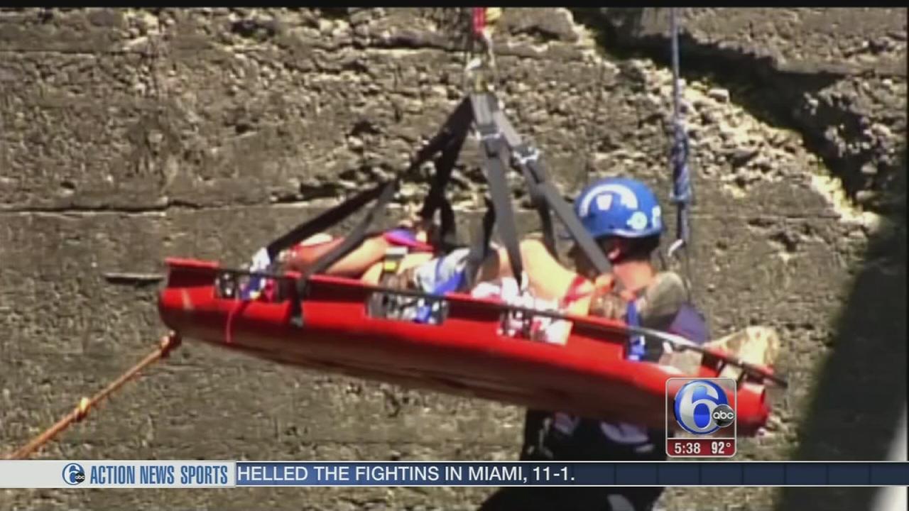 VIDEO: Worker falls