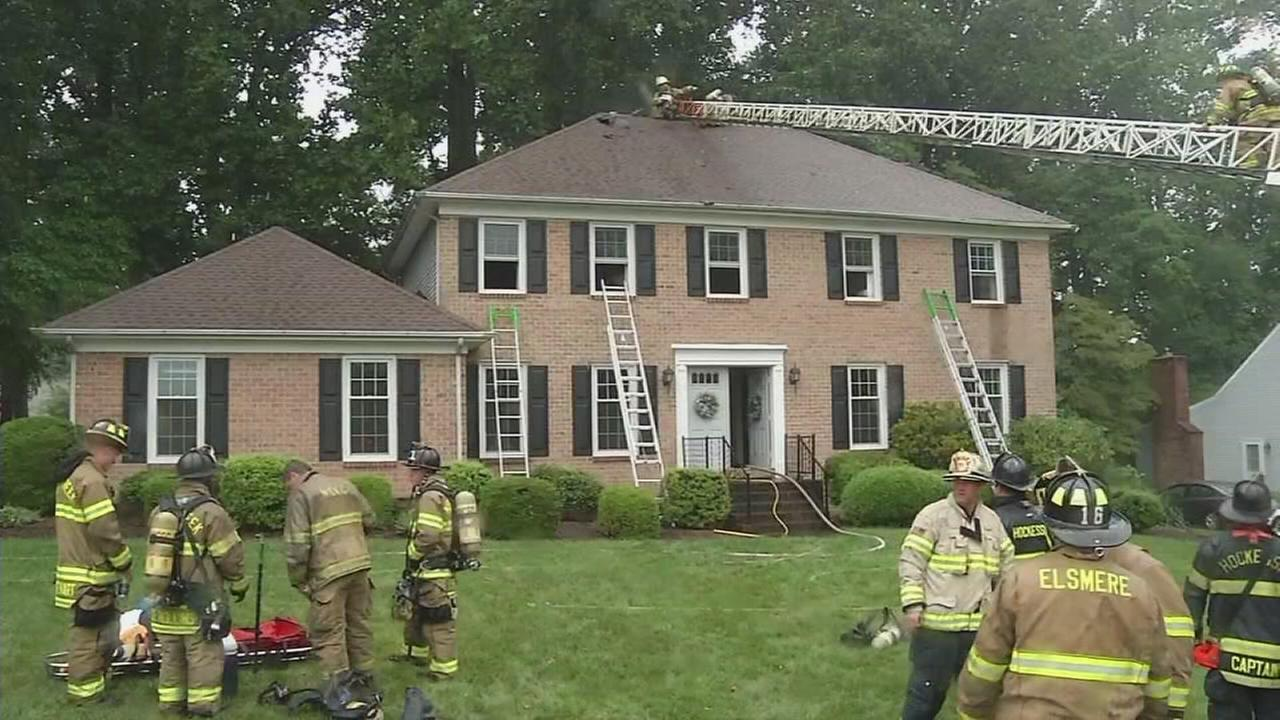 VIDEO: Lightning blamed for Hockessin fire