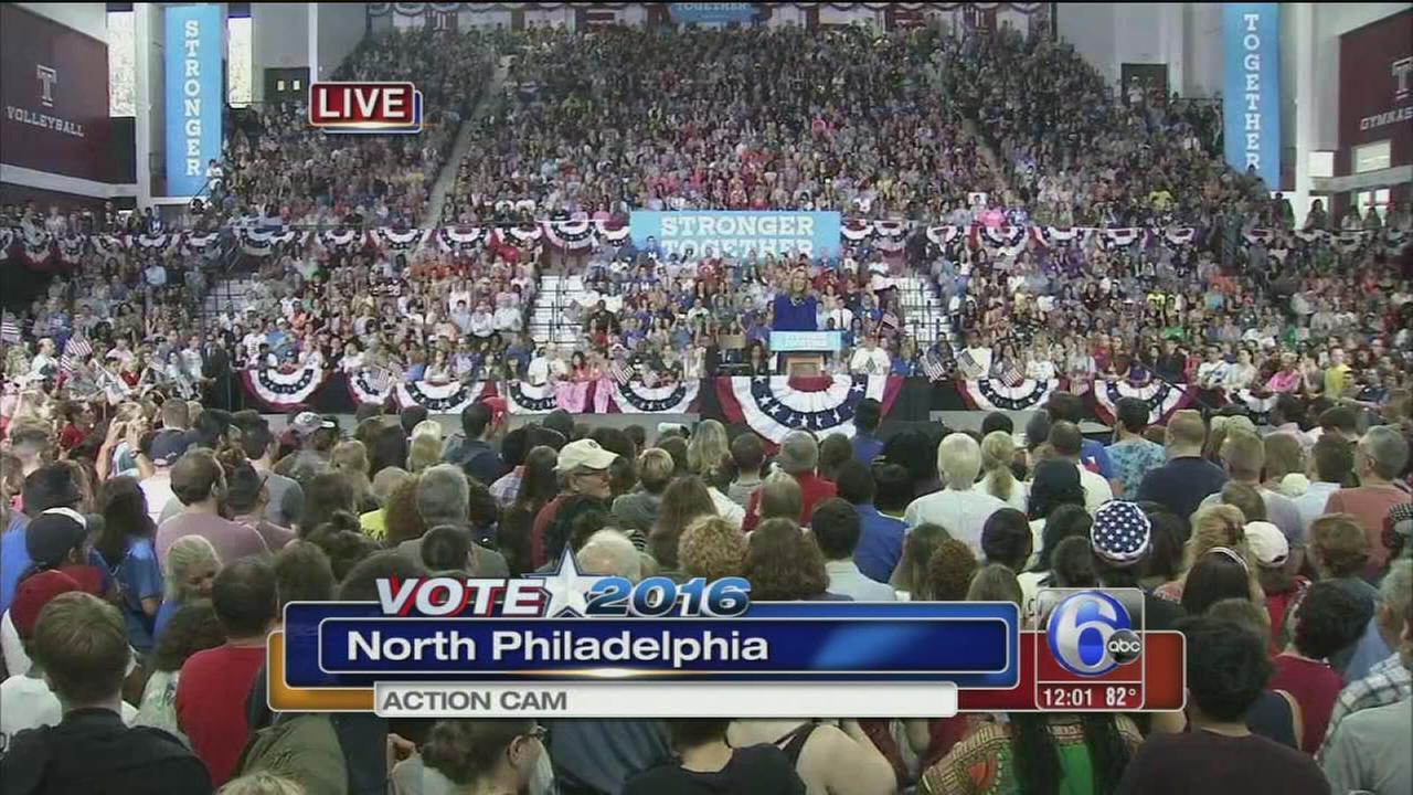 VIDEO: Clinton post-DNC rally