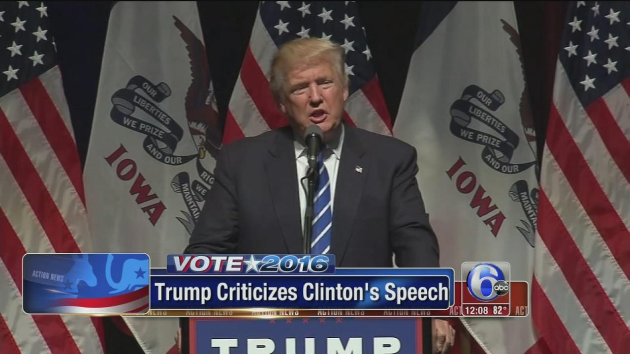VIDEO: Trump criticizes Clintons speech