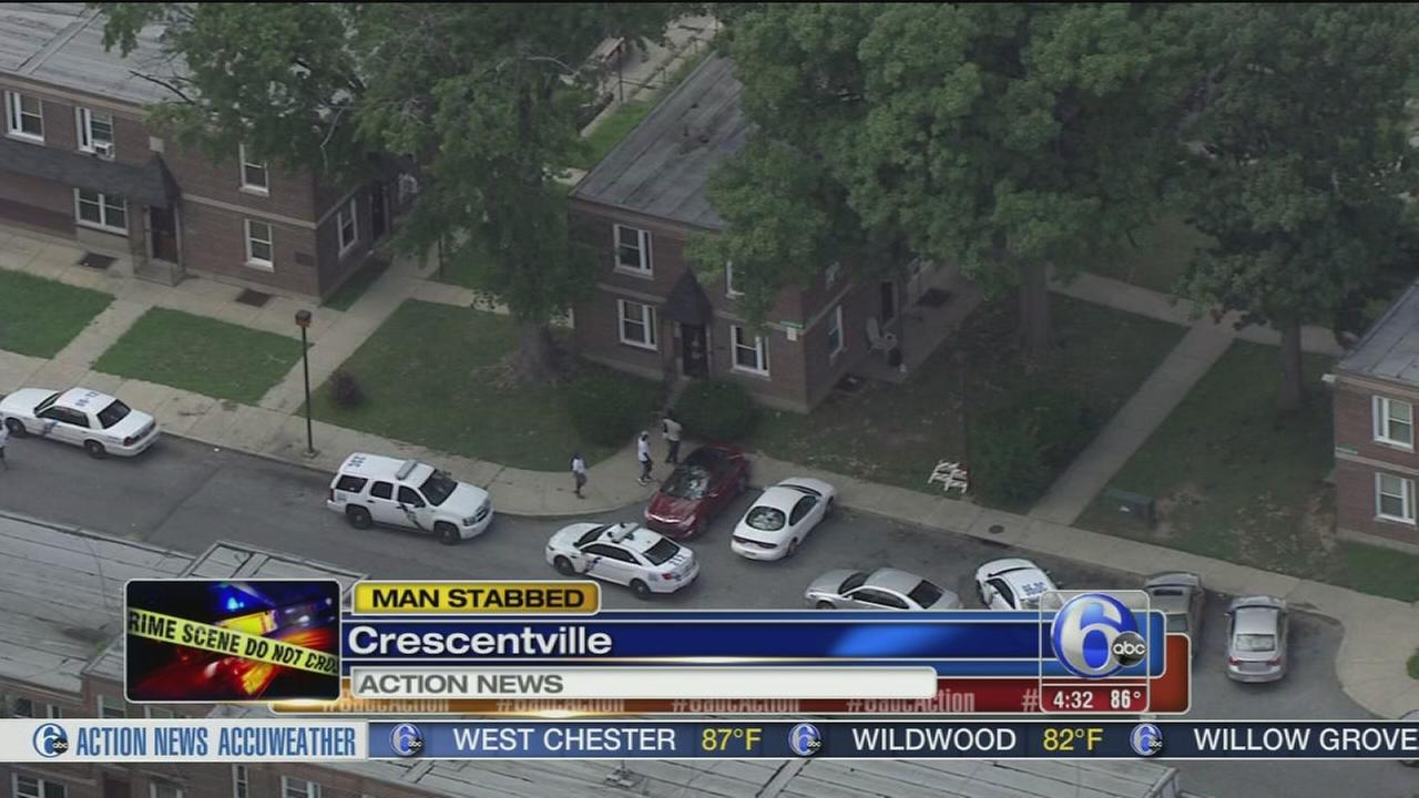 VIDEO: Man critical after stabbing in Crescentville