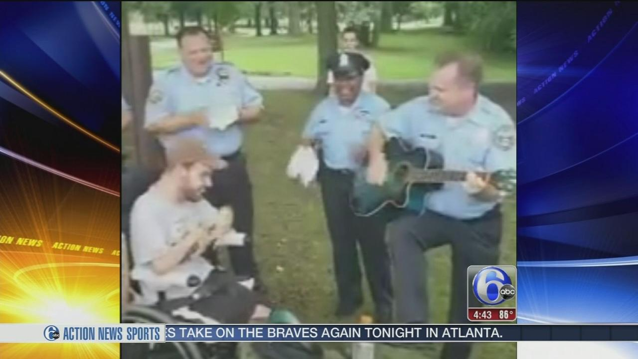VIDEO: Officers jam out with protesters