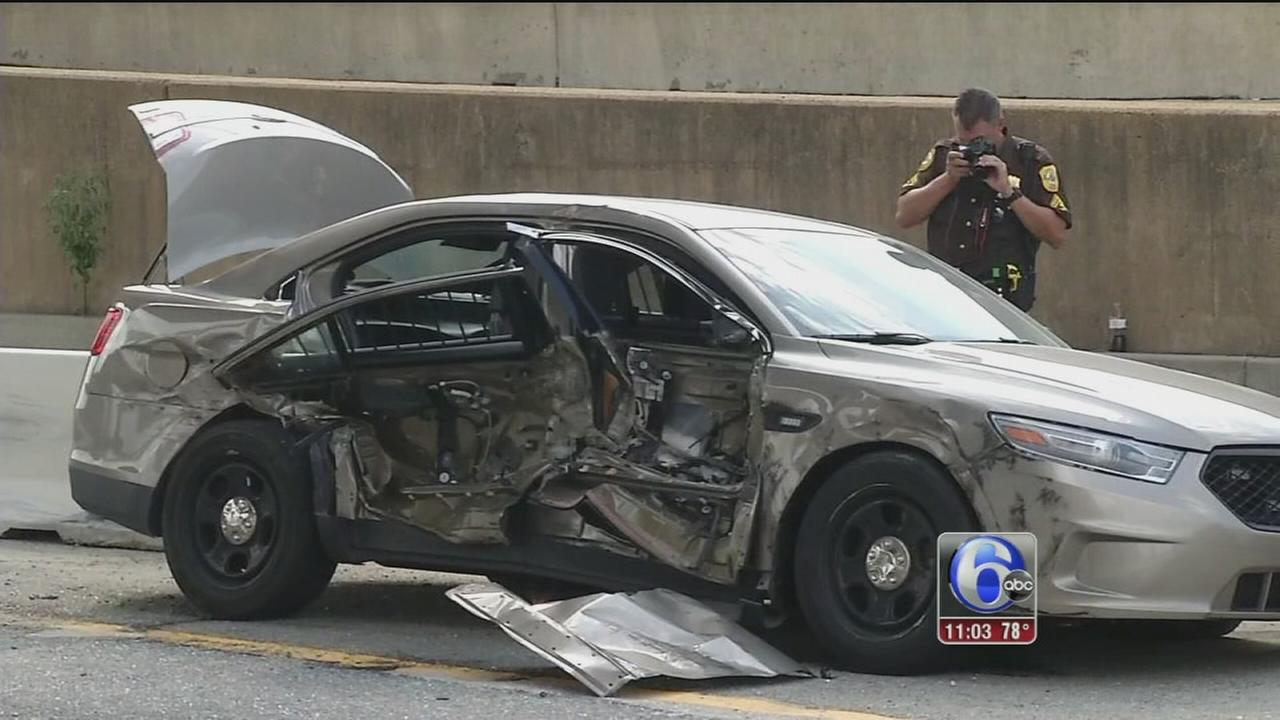 VIDEO: Officer crash