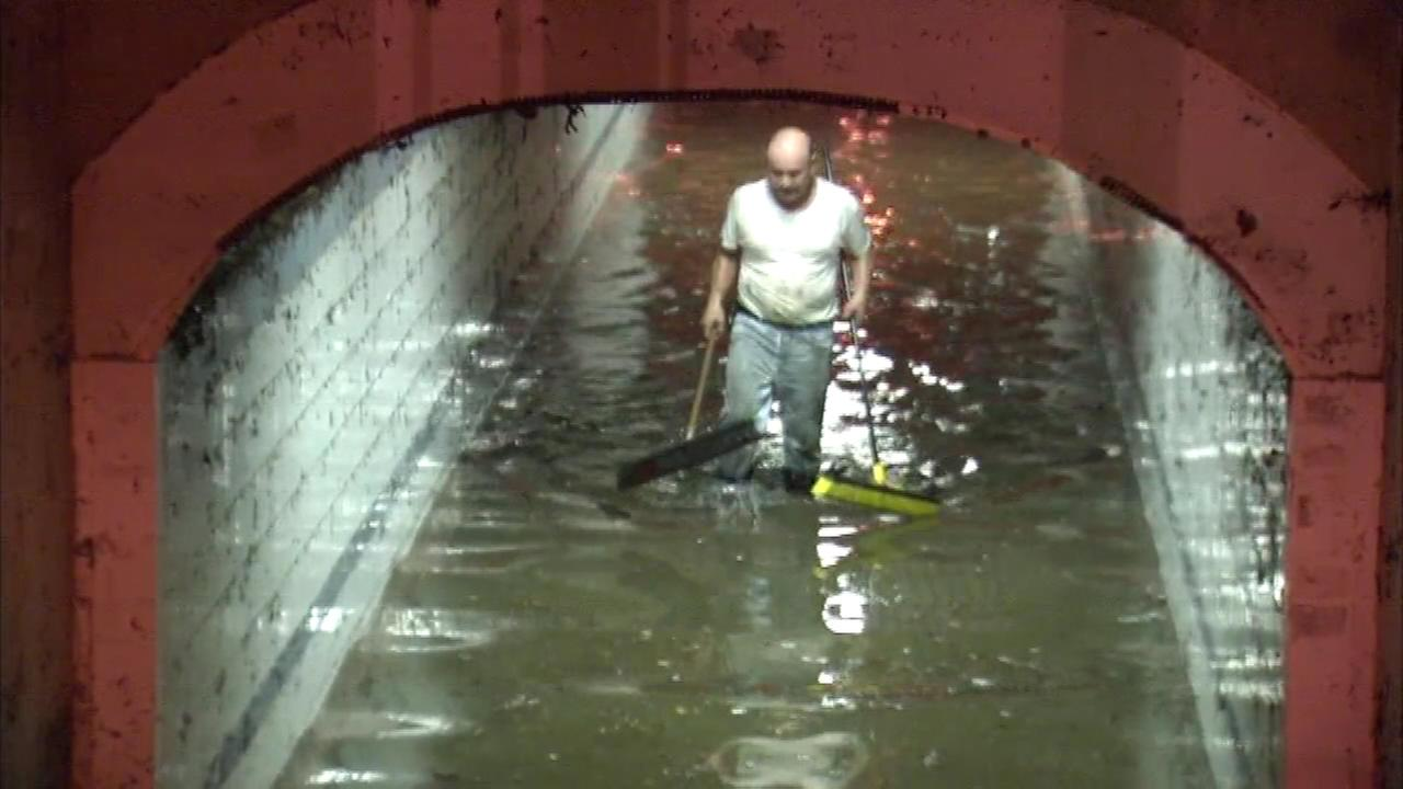 Parts of the Delaware Valley dealt with severe flooding on Saturday.