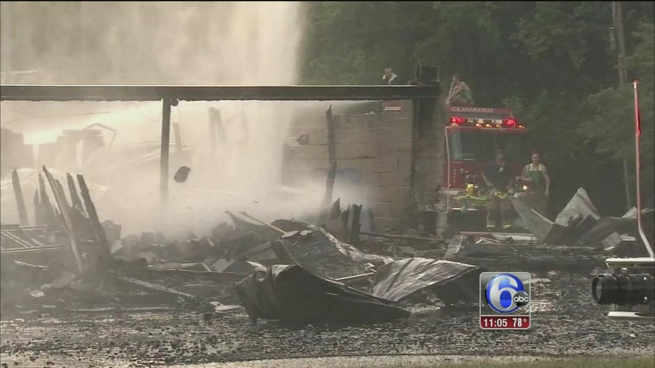 VIDEO: Lumber yard fire