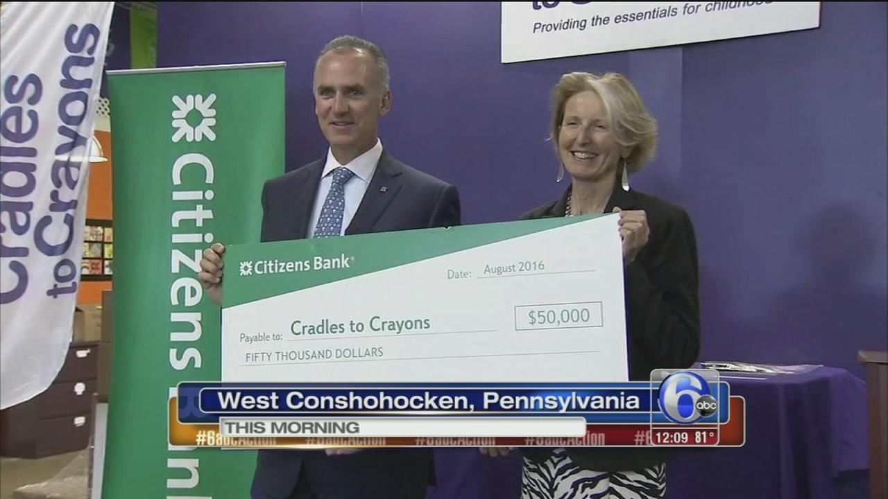 VIDEO: Citizens Bank donated $50k to Cradles for Crayons
