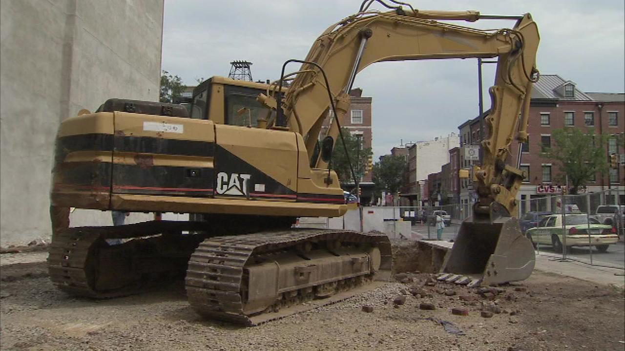 Crews unearthed a door while digging at Third and Market streets in Center City Philadelphia.  Some think it could be a window to the citys storied past.
