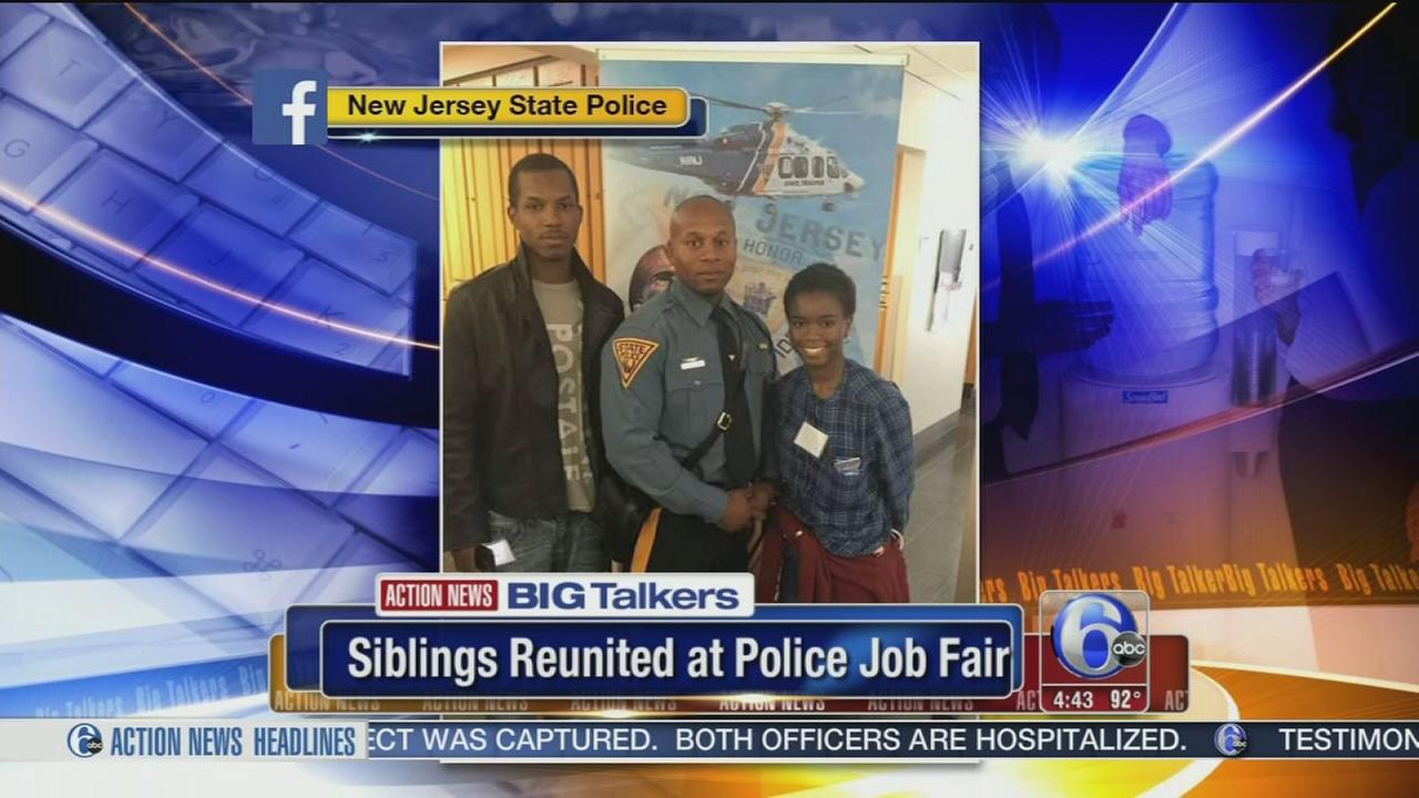 VIDEO: Siblings reunited at NJSP job fair
