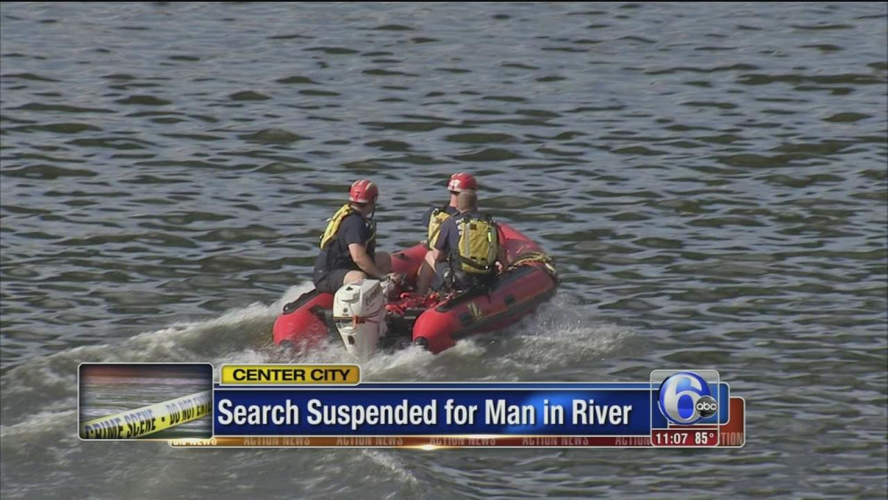 VIDEO: Search suspended for man in river