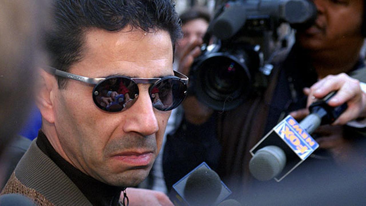 FILE - In this Feb. 20, 1997 file photo, Joseph Skinny Joey Merlino talks to the media outside the Criminal Justice Center in Philadelphia.