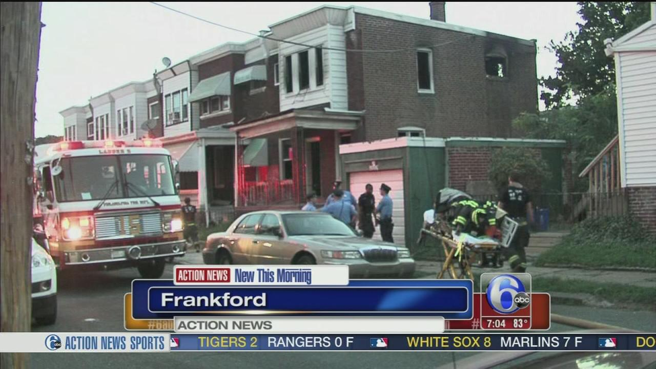 VIDEO:  Firefighters fight Frankford fire