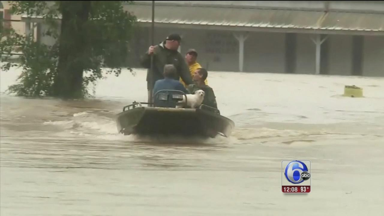 VIDEO: Rains wreak havoc on Louisiana