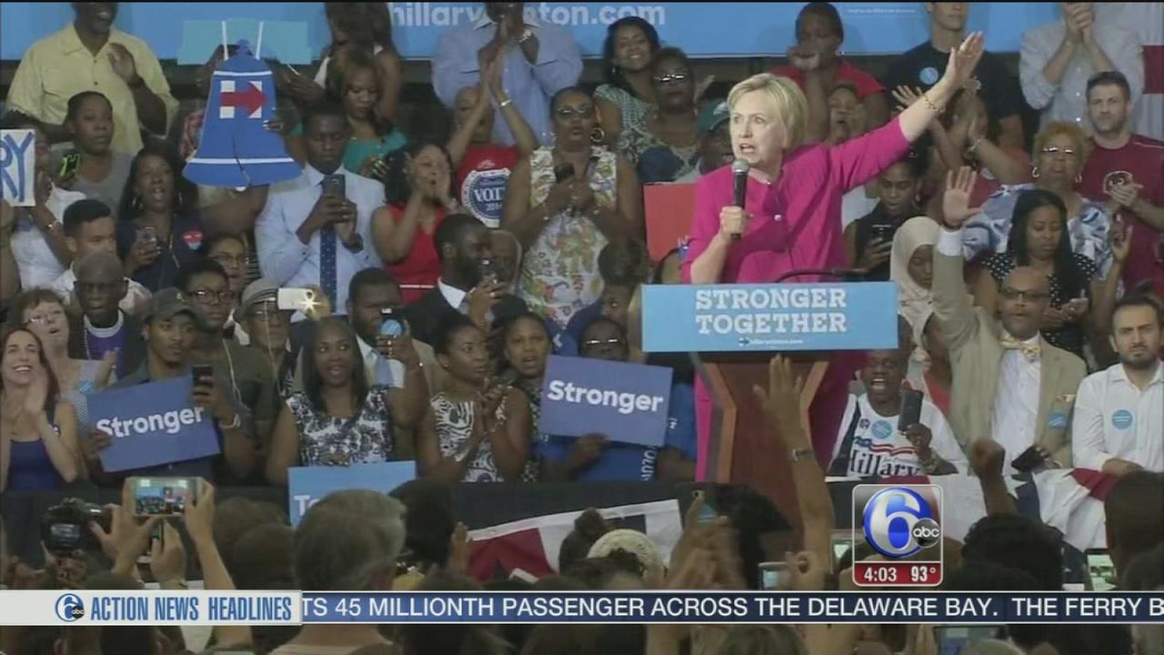 VIDEO: Hillary Clinton campaigns in West Philly