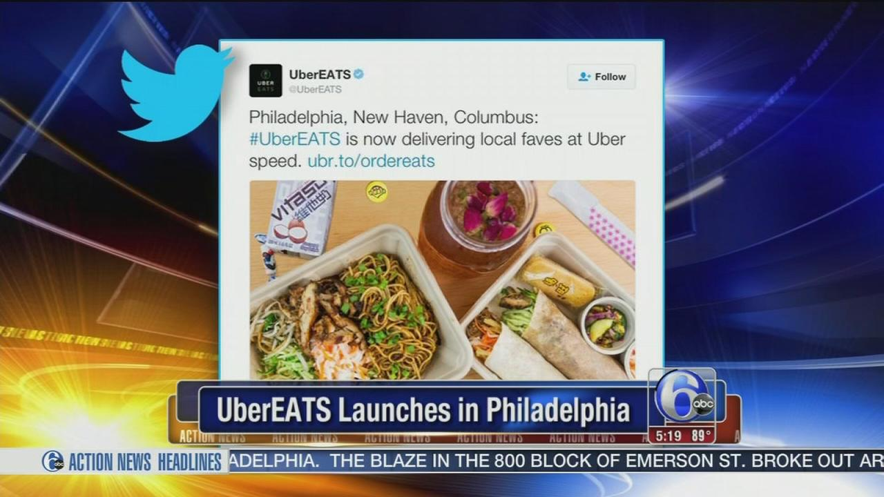 VIDEO: Uber Eats launches in Philadelphia