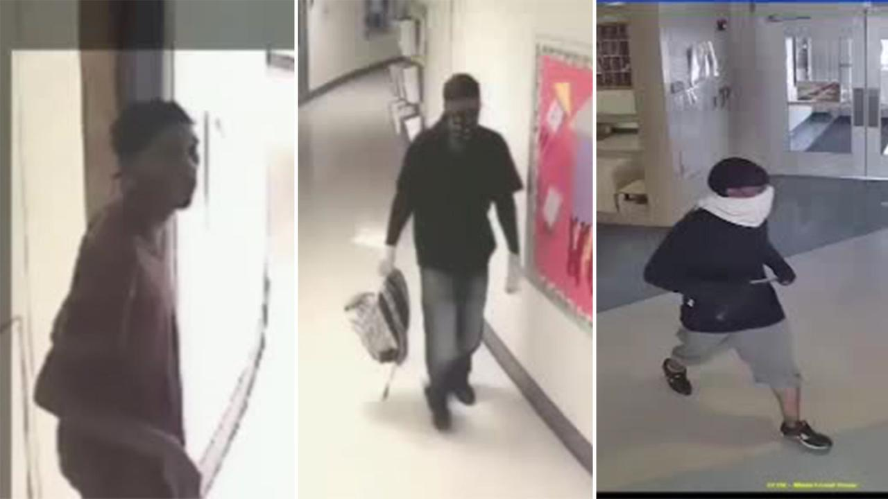 Camden County police are releasing surveillance video of two break-ins - one at an elementary school, the other at the adjacent Early Childhood Development Center.