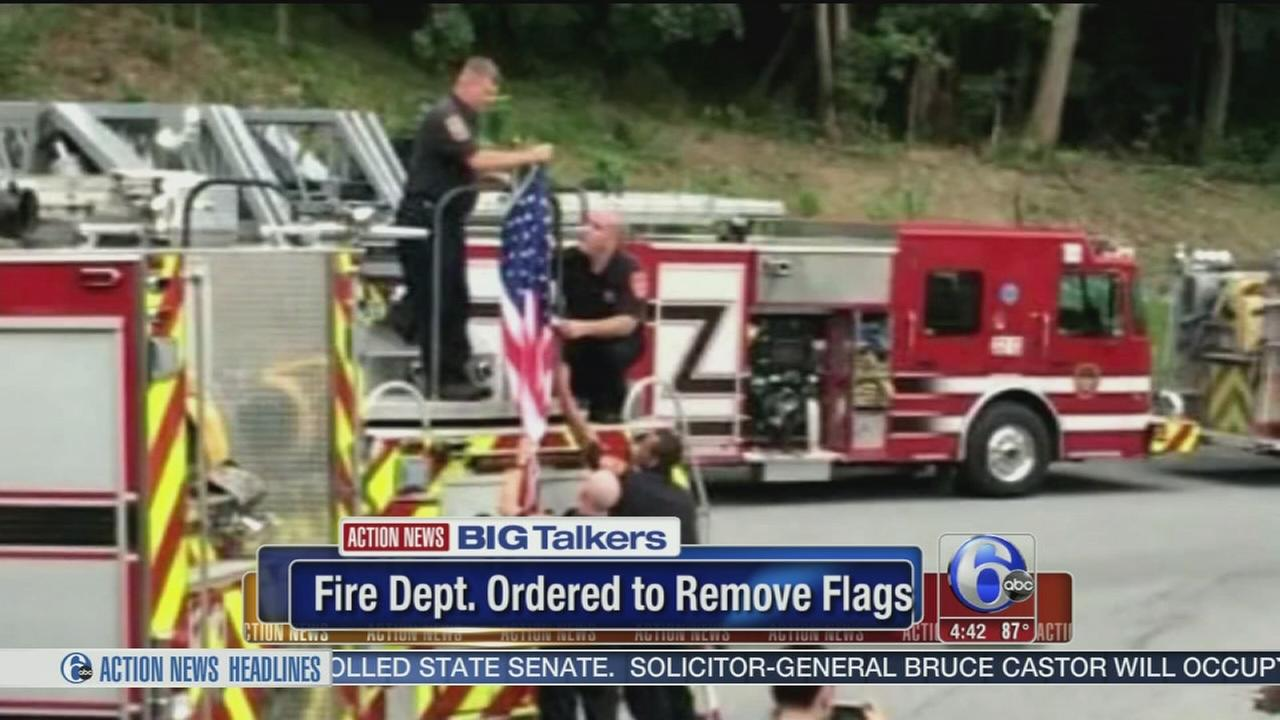 VIDEO: Fire Dept. ordered to remove flags